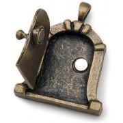 Il fascino di fata porta metallo 1/Pkg-antico bronzo Dome