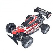 ALEKO 06081 4 Wheel Drive RC Electric Power Off Road Buggy Red 1/16 Scale