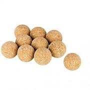 Conjunto de 10 bolas de corcho (bolas de kicker de corcho), corcho natural, diámetro = 3,5 cm | naturales, muy silenciosas (futbolín, bola de kicker, bolas para futbolines, 10 piezas)