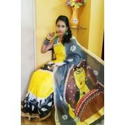 Traditional Theme Handpainted Kasavu Saree