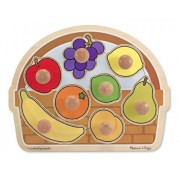 Large Fruit Basket Jumbo Knob Puzzle + FREE Melissa & Doug Scratch Art Mini-Pad Bundle [33947]