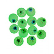 Glow in the Dark Halloween EYE Ball Bouncy Balls 32 Mm Size Eyeballs