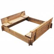 vidaXL Čtvercové impregnované dřevěné pískoviště