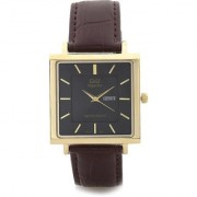 Q&Q Quartz Black Square Men Watch 100S194-102Y