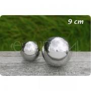 Boltze Deko Kugel aus Edelstahl für den Garten oder Teich 9,0 cm