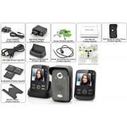 SafeGuard Duo - Intercom Video Sans Fil / Detection de Mouvements / 2 Moniteurs 3.5 pouces / Portee 300m / Fonction Photo et Video