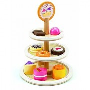 Hape - Playfully Delicious - Dessert Tower Wooden Play Food Set