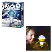 Light-Up Space Planetarium by 4M Kidz Labs! For Ages 8+ Build a mini night planetarium