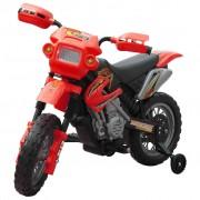 vidaXL Elektrická dětská motorka - červená