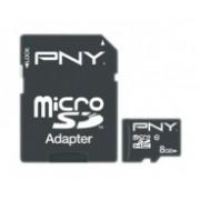 Memoria Flash PNY, 8GB microSDHC Clase 10, con Adaptador
