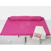 Pelenkázó alátét Joy toTs-smarTrike 2 huzattal víziló 100% szatén pamut rózsaszín