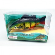 Rittle Peacock Bass Realistic Swimming Fish Water Pool & Bath Toy 8 (Battery Operated)