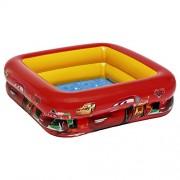 Intex 57101 - Piscina Baby Cars, 85 x 85 x 23 cm, Rossa