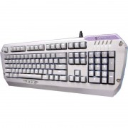 Tastatura gaming Tesoro Colada G3NL Silver LED Aluminum Mechanical Edition Brown