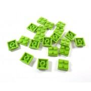 LEGO Bricks - Plancha (20 unidades, 2 x 2 pivotes), color verde lima