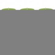 Bolsius класически свещи 100 x мм, цвят зелен - 6 броя