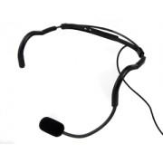 Trantec MIC-SJ66-BK HM-66 Aerobic Headworn Microphone Black gooseneck