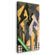 Juan Gris: Harlekin asztallal (20x30 cm, Vászonkép )