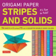 "Origami Paper - Stripes and Solids 6"" - 96 Sheets: It's Fun to Fold! (Tuttle Origami Paper)"