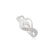 Ezüst gyűrű fehér cirkónia kristállyal
