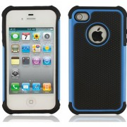 Blue and Black Apple iPhone 4 / 4S Defender Case