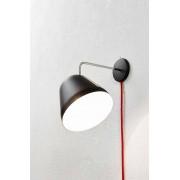 Nyta Tilt Wall Wandleuchte schwarz-schwarz matt-mit Kabel und Stecker