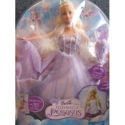 The MAGIC of PEGASUS BARBIE as Princess ANNIKA Doll w LIGHT UP Wand (2005)
