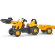 Tractor Cu Pedale Si Remorca Copii ROLLY TOYS 023837 Galben