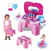 Olly Polly kids High Quality Imported 2 In 1 Beauty Play Set & Chair For Your Little Princess Gift toy Beauty Play Set (Age: 3+)