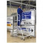 C.O.Weise GmbH&Co.KG Weise Podestleiter, beidseitig begehbar, Stahlstuf 4