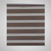 vidaXL Roleta Zebra / noc a den Twinroll 70 x 120 cm, kávová