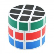 Cylinder Style 3x3x3 Magic Cube Toy - Multi-Color (Skill Level 3)