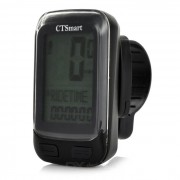 "CTSmart 22-Functional 1.7"" Screen Bicycle Bike Computer w/ Stop Watch - Black (1 x CR2032)"