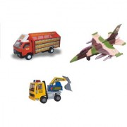 Centy Pack Of 3 Dcm Container Excavator F-16 Fire Blade