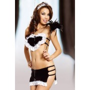 Satenski sexy kostim sobarice Amber SLC0148516