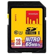 Strontium 16 GB NITRO SDHC NITRO 433X Memory Card - Class-10