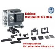HD-Action-Cam DV-1212 mit 720p-Auflösung, Unterwasser-Gehäuse, IP68