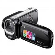 FILMADORA MULTILASER FULL HD LCD 2,4 Foto de 14 MP, Zoom Digital 8x e Bivolt