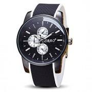 Masculino Relógio Esportivo Relógio de Pulso Quartzo / Silicone Banda Legal Casual Preta marca