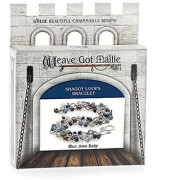 Weave Got Maille Shaggy Loops Chain Maille Bracelet Kit Blue Jean Baby