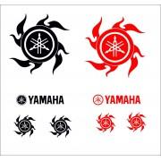 Adesivi per auto moto scooter Yahama Neri o Rossi Team racing