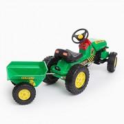Farm Loader Tractor agrícola con remolque vehículo de pedal | Gran vehículo de pedal para todos los pequeños agricultores aficionados a partir de 3 años