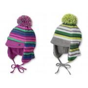 Kuschel Wintermütze Mütze mit Bommel, Ohrenschutz mit Bindeband STERNTALER WINTER 4501460
