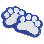 Dozen Blue Paw Print Themed Mini Notebook Memo Pads