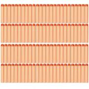 AMOSTING 100 PCS Foam Darts Universal Standard Refill Soft 2.84in (7.2cm) Round Head Bullet Pack for Most Nerf N-strike Elite Mega Centurion etc Series Blasters Toy Hand Gun - Orange