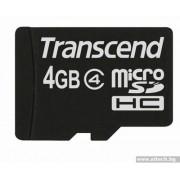 Micro SD Card, 4GB, Transcend MICRO, Class4 (TS4GUSDC4)