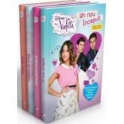 Pachet Disney Violetta 4 carti Un nou inceput+Totul pentru muzica+Prietene pe viata+Primul sarut