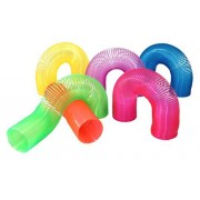 Extra Long Magic Spring Assorted Neon Colors Coil Springs (1 Dozen)