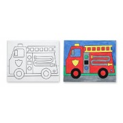 Melissa & Doug Canvas Creations - Fire Truck