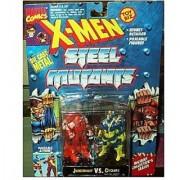 X-Men Steel Mutants Juggernaut Vs. Cyclops Die Cast Action Figures